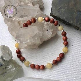Goldstone & Calcite Healing Bracelet